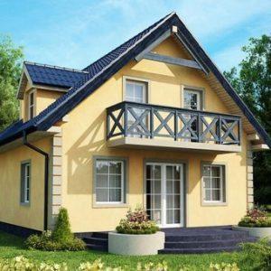 каркасный дом с планом