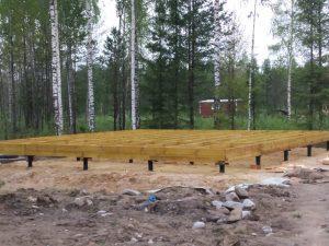 строительство дома 6*8 с террасой