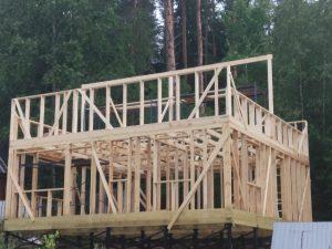 Строительство дома 8*8